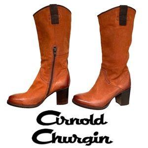 "Arnold Churgin Handmade Leather 3"" Heeled Boots"